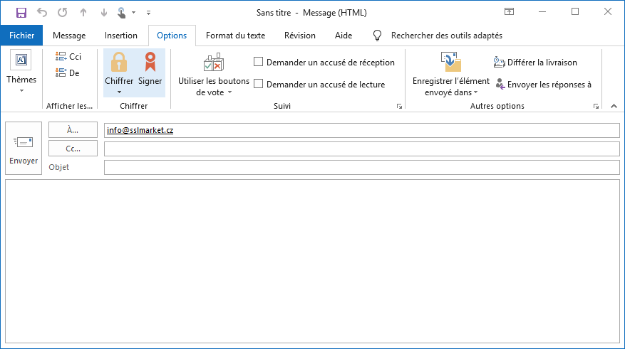Signer un message dans Outlook